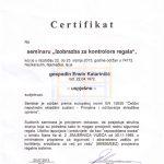INSPEKCIJA/KONTROLA REGALA