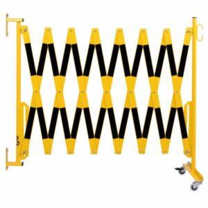 Škarasta ograda s kotačićima i zidnim nosačem