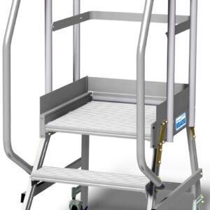 Pokretni podest jednostrani sa zaštitnim rubom na platformi i visokom ogradom