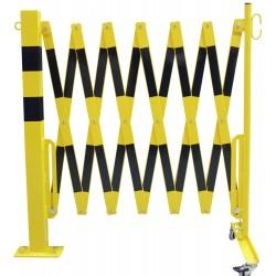 Škarasta ograda s kotačićima i fiksnim stupom