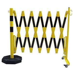 Škarasta ograda s kotačićima i teškom pločim